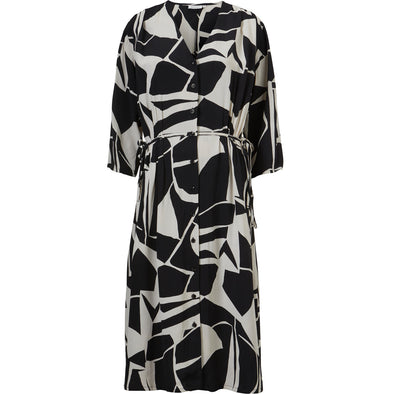 Masai NINI Black and White Pattern Dress