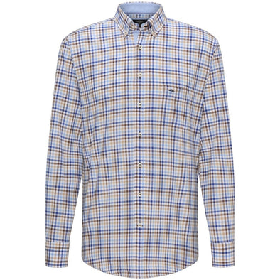 Fynch Hatton Cotton Earth Checked Shirt