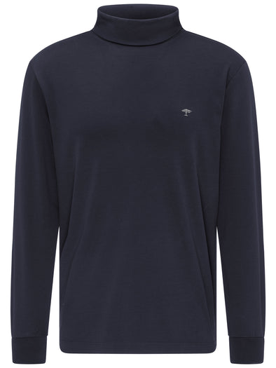 Fynch-Hatton Navy Roll-Neck