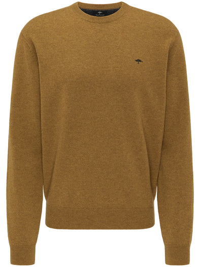 Fynch-Hatton Mustard Round Neck Jumper