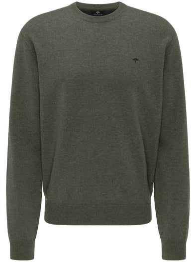 Fynch-Hatton Pesto Round Neck Jumper