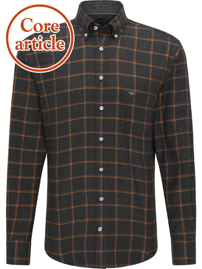 Fynch-Hatton Anthra Flannel Checked Shirt