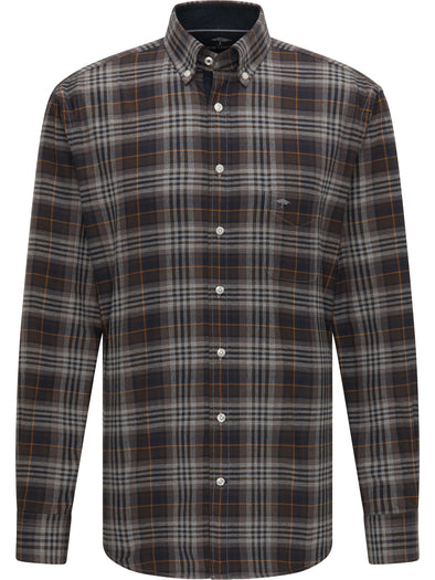 Fynch-Hatton Winter Check Navy Shirt