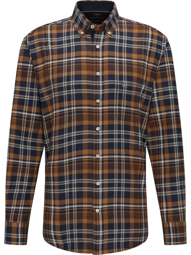 Fynch-Hatton Mustard Winter Check Shirt