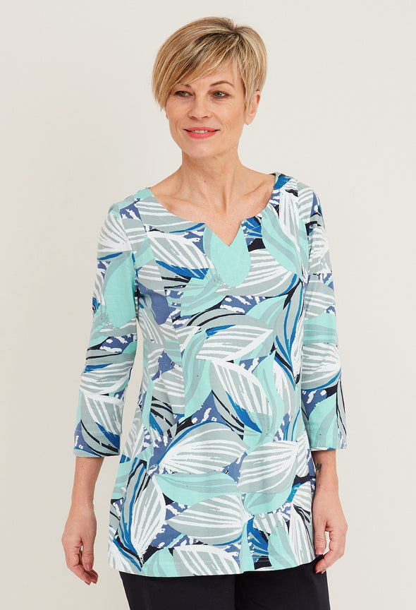 Adini Nuri Jungle Leaf Print Nuri Tunic