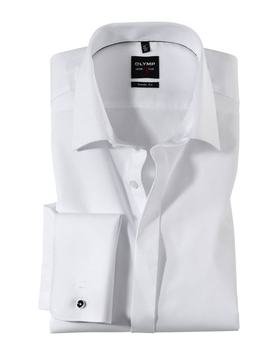 Olymp Double Cuff Body Fit White Shirt