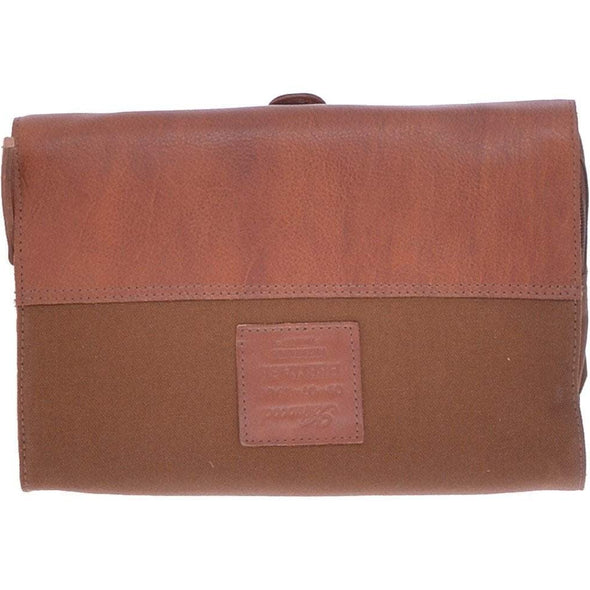 Ashwood Leather Spitafields Tan Hanging Wash Bag