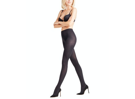 Falke Cotton Touch Black Tights