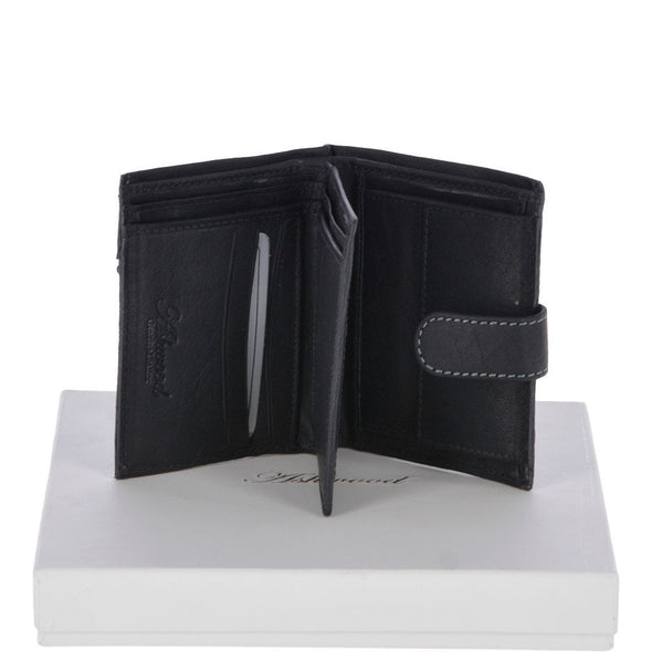 Ashwood Leather Kingston Black 6 Card Bifold Wallet