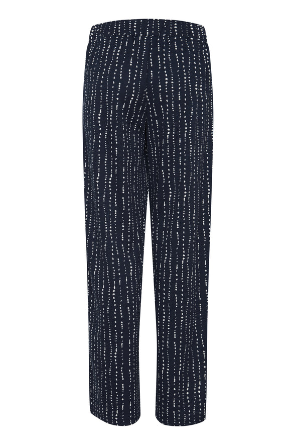 Ichi Kate Stripe Casual Trousers