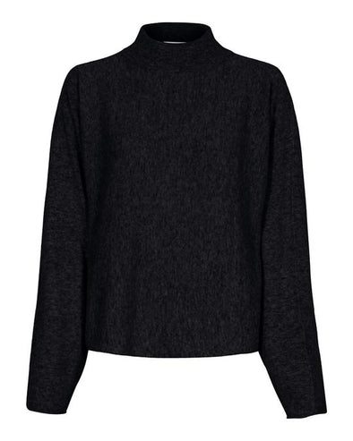 Tif Tiffy Black Knitted Jumper with Turtleneck