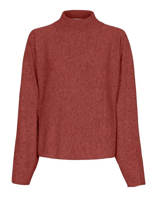 Tif Tiffy Red Jumper with Turtleneck