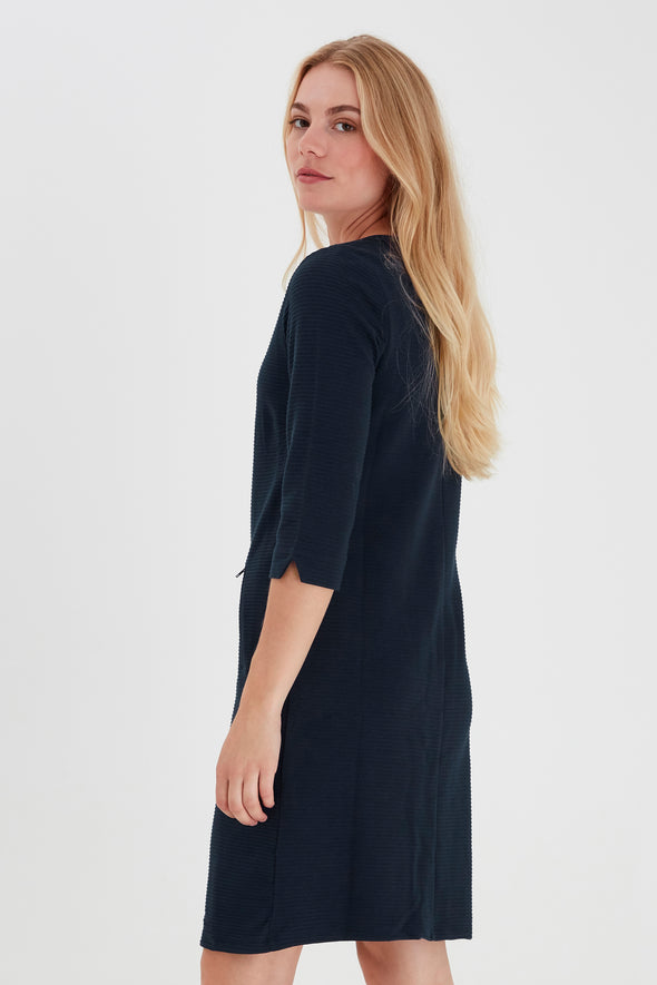 Fransa Zarill Dark Blue Dress