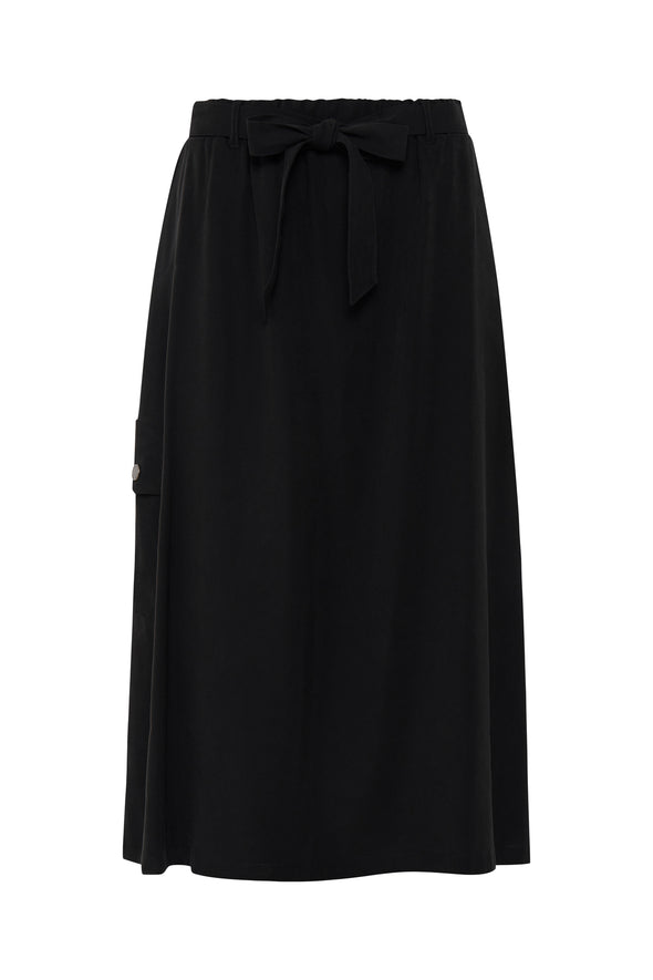 Fransa Lajump 6 Long Black Skirt