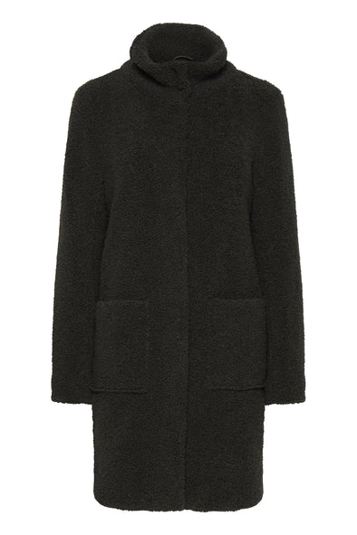 Fransa Meteddy Dark Green Coat