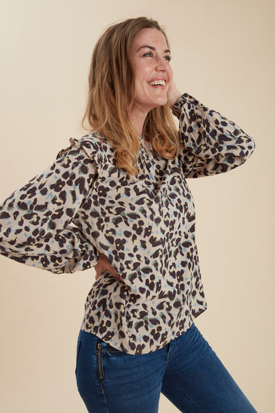Fransa Frpaleo Animal Print  Blouse
