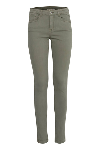 B Young Lola Slim-Fit Sea Green Jeans