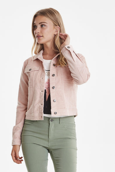 B Young Pink Cord Jacket