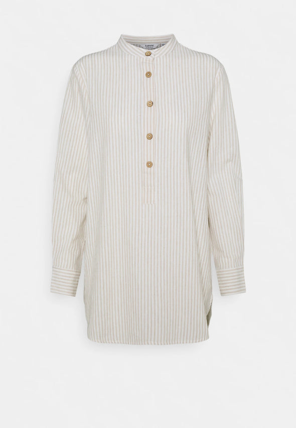 B Young Byharika Cotton/Linen Long Shirt