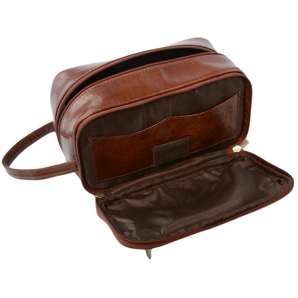 Ashwood Leather Chelsea Chestnut Wash Bag