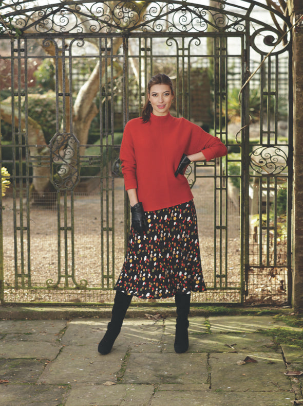 Pomodoro Red Knitted Jumper
