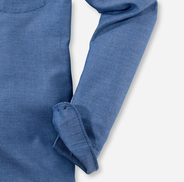 Olymp Blue Casual Shirt