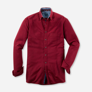 Olymp Red Button Down Casual Shirt