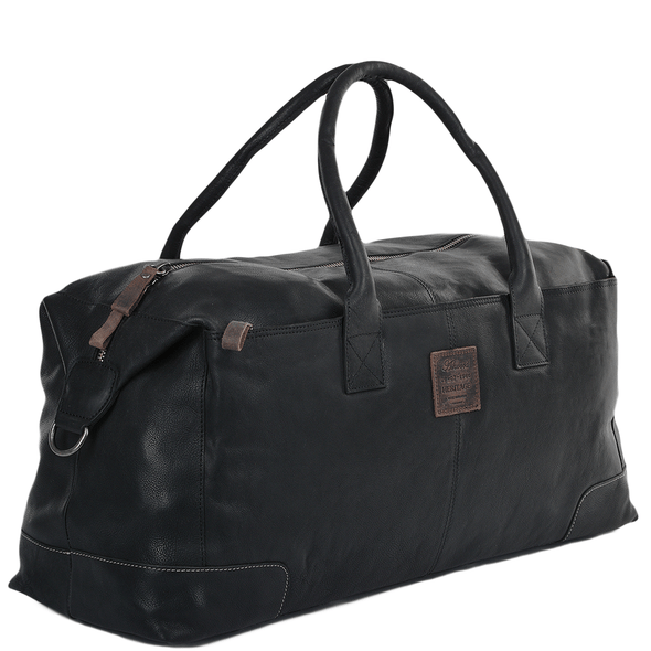 Ashwood Leather Stratford Large Black Weekend Holdall
