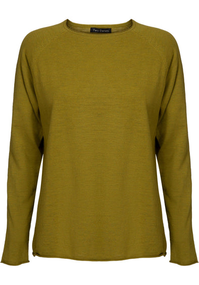 Two Danes ANNIKA Green Moss Jumper