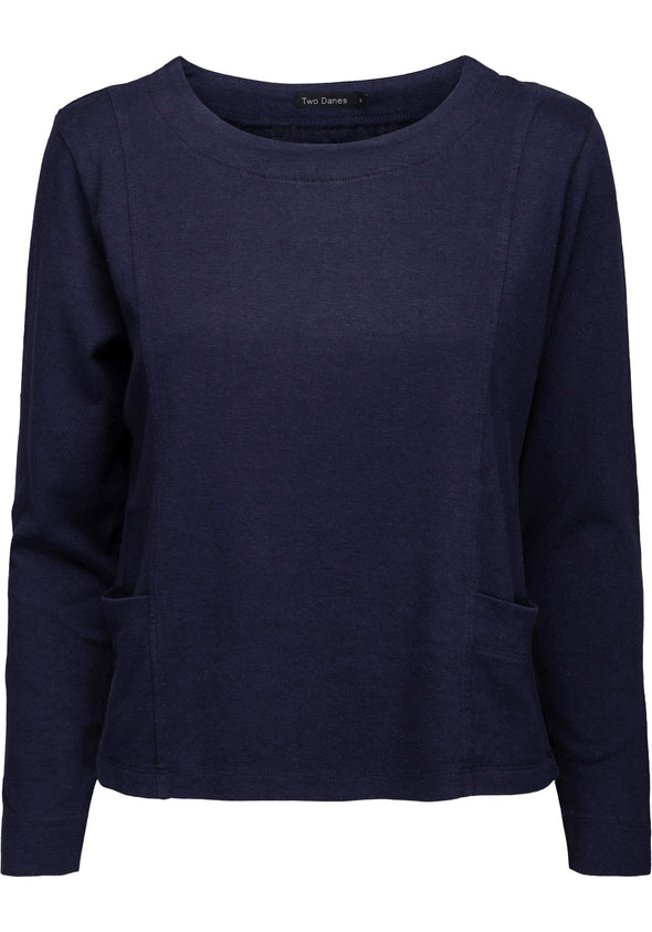 Two Danes HANNE Navy Organic Top