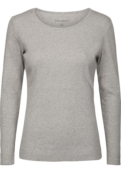 Two Danes ADDA Light Grey Long Sleeved Top