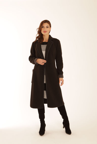 Pomodoro Black Long Coat
