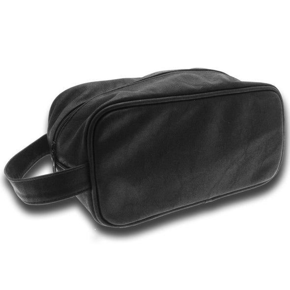 Sophos Single Zip PU Black Wash Bag