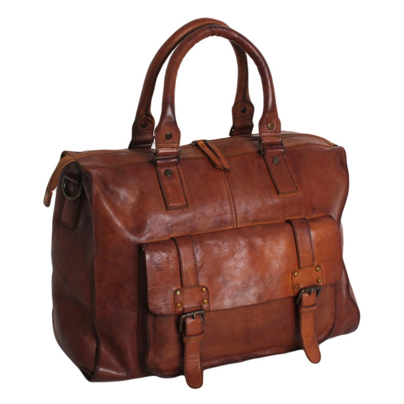 Ashwood Shoreditch Weekend Holdall in Rust
