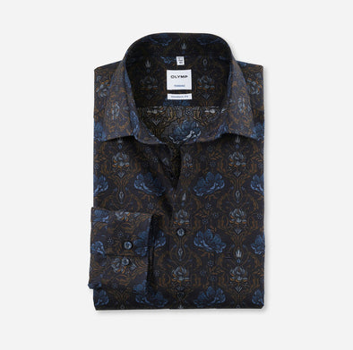 Olymp Tendenz Modern Fit Flower Shirt