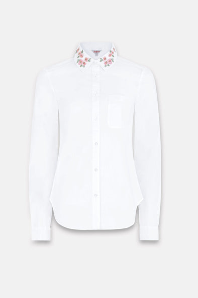 Cath Kidston Mayfield Blossom Embroidered Collar Shirt
