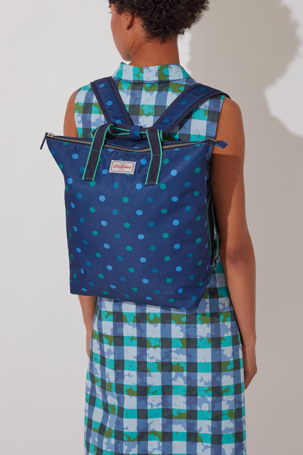 Cath Kidston Power Spot Recycled Zip-Top Backpack