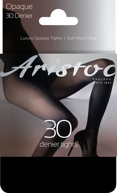 Aristoc Opaque 30 Denier Tights Black