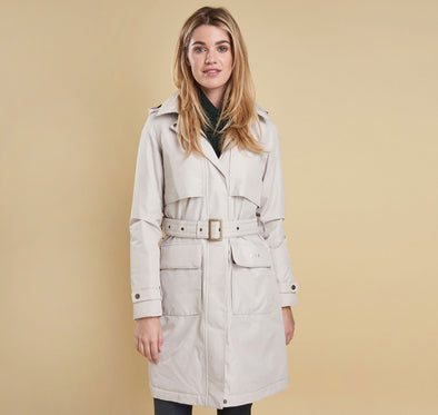 Barbour Billow Waterproof Coat in Mist