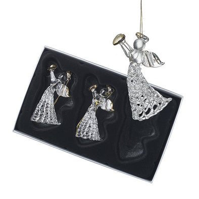 HEAVEN SENDS - Hanging Glass Angel Set