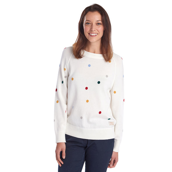 Barbour X Emma Bridgewater Spot Knit Off-White
