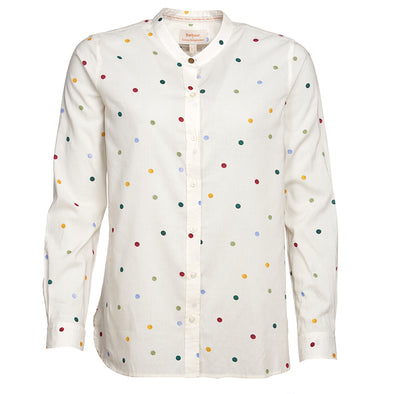 Barbour X Emma Bridgewater Spot Shirt Off White