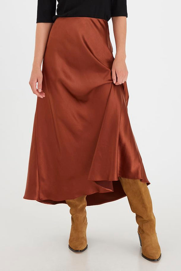B Young Gunilla Long Bronze Skirt