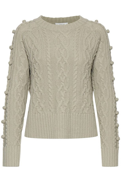 B Young Melissa Cabel Light Green Jumper