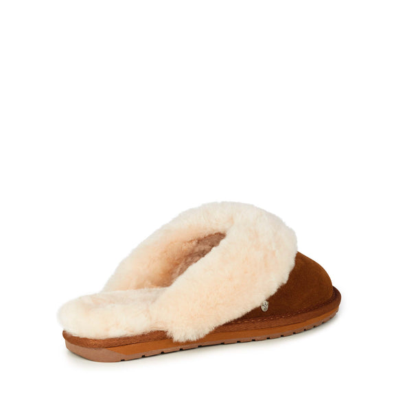 Emu Australia Jolie Slippers in Chestnut