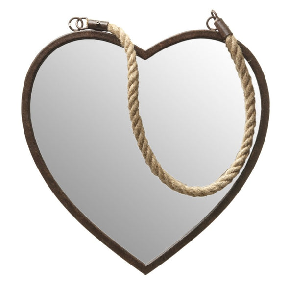 HEAVEN SENDS - Hanging Heart Shaped Wall Mirror