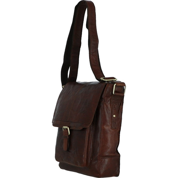 Ashwood Leather Battersea Brandy A4 Body Bag
