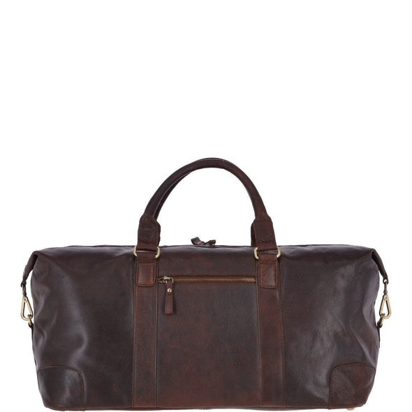 Ashwood Leather Battersea Brandy Large Vintage Travel Holdall