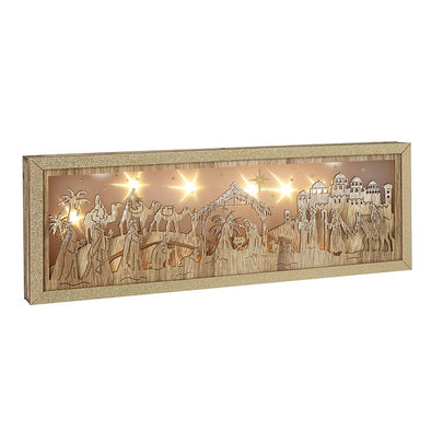 HEAVEN SENDS - Wooden Nativity Led Scene