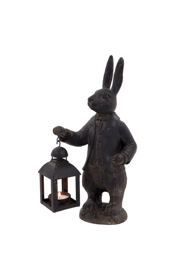 London Ornaments Metal Hare with Lantern